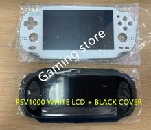 מקורי חדש עבור psvita עבור ps vita psv 1000 lcd מסך לבן + שחור חזרה כיסוי 3G או WIFI עם מגן מסך חינם