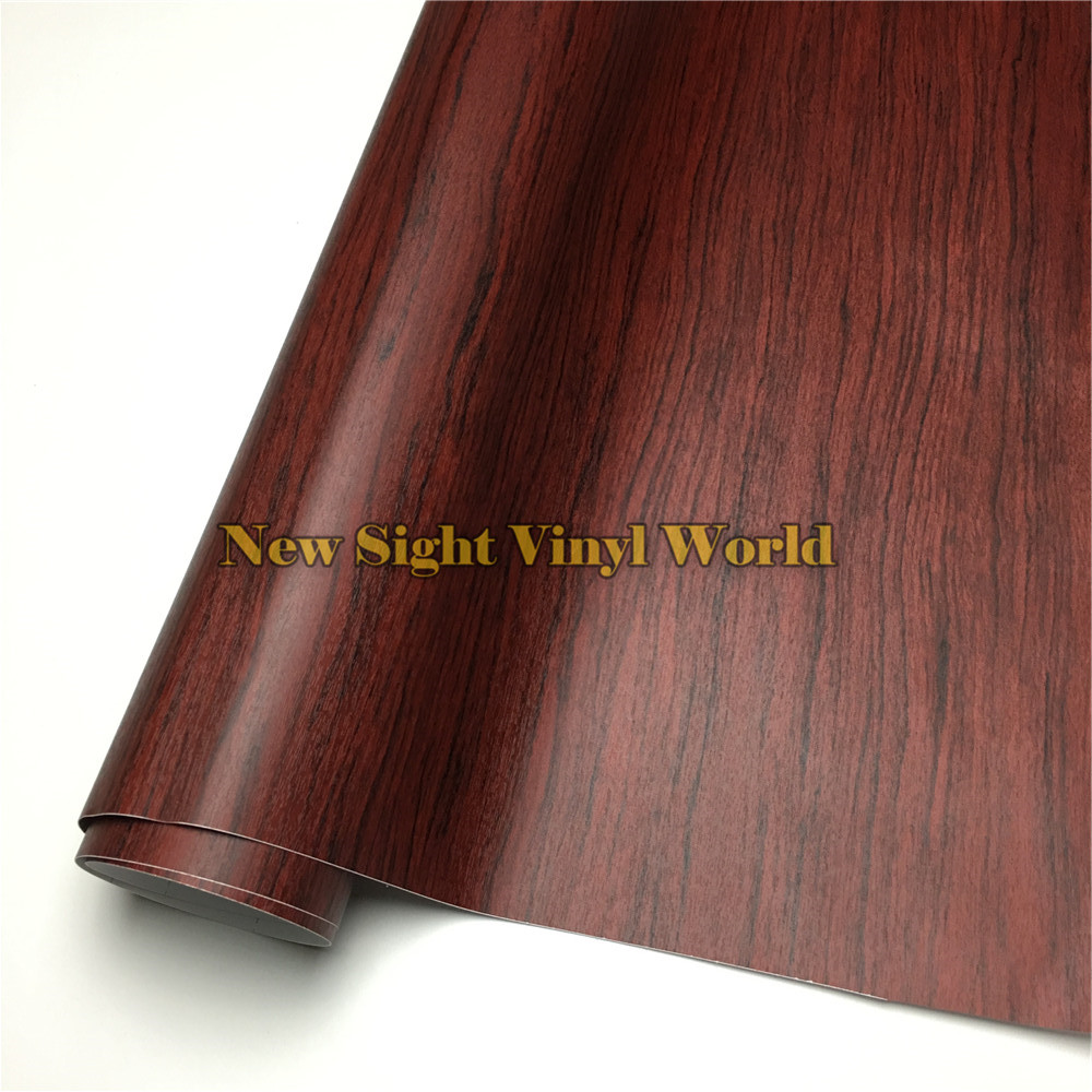 Rosewood Wood Vinyl Wrap Film Sticker Wood PVC Film For Floor Furniture Car Interier Size:1.24X50m/Roll(4ft X 165ft)