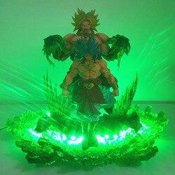 Dragon Ball Super Lampara Broly светодиодный ночник Dragon Ball Z Broly Led Evolution Scene dbz лампа для рождественского подарка