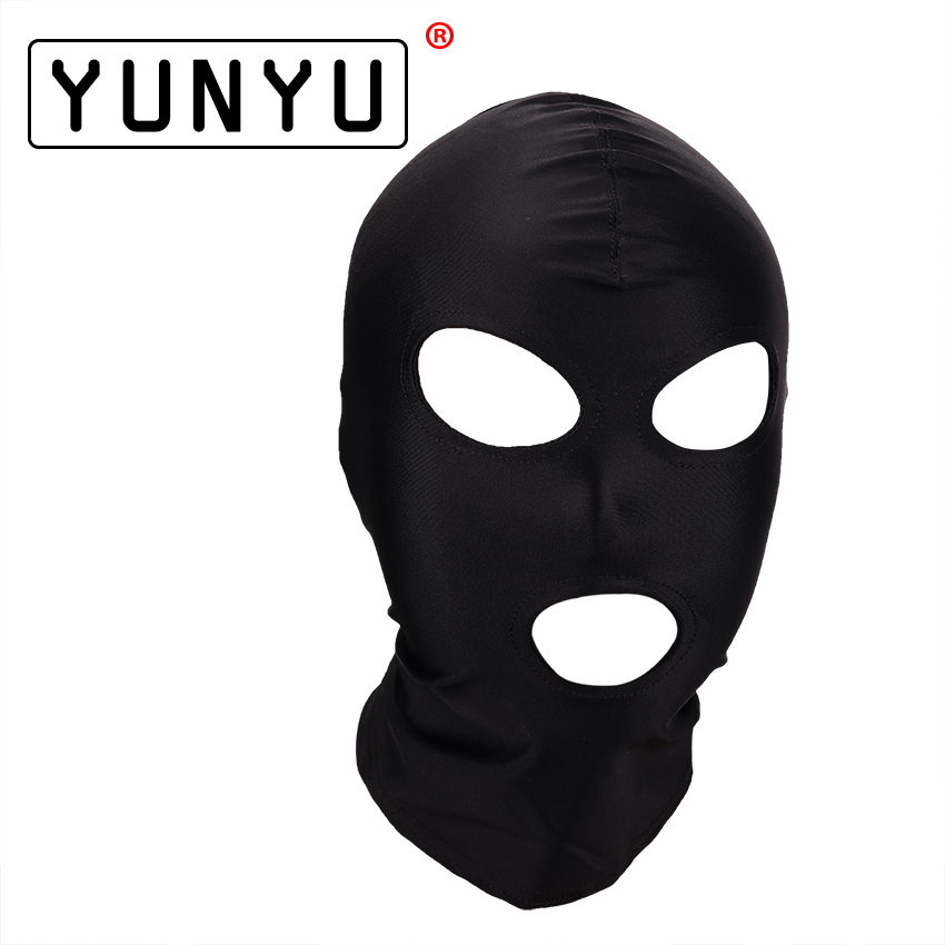 Fetish Mask Hood Sexy Toys Open Mouth Eye Bondage Hood Party Mask Cosplay Slave Headgear Mask Adult Game Sex Products 4 Style цены