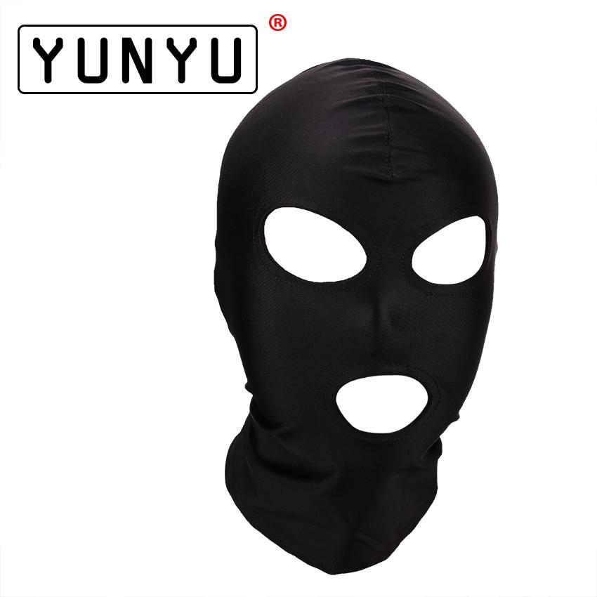 Fetish Mask Hood Sexy Toys Open Mouth Eye Bondage Hood Party Mask Cosplay Slave Headgear Mask Adult Game Sex Products 4 Style цена