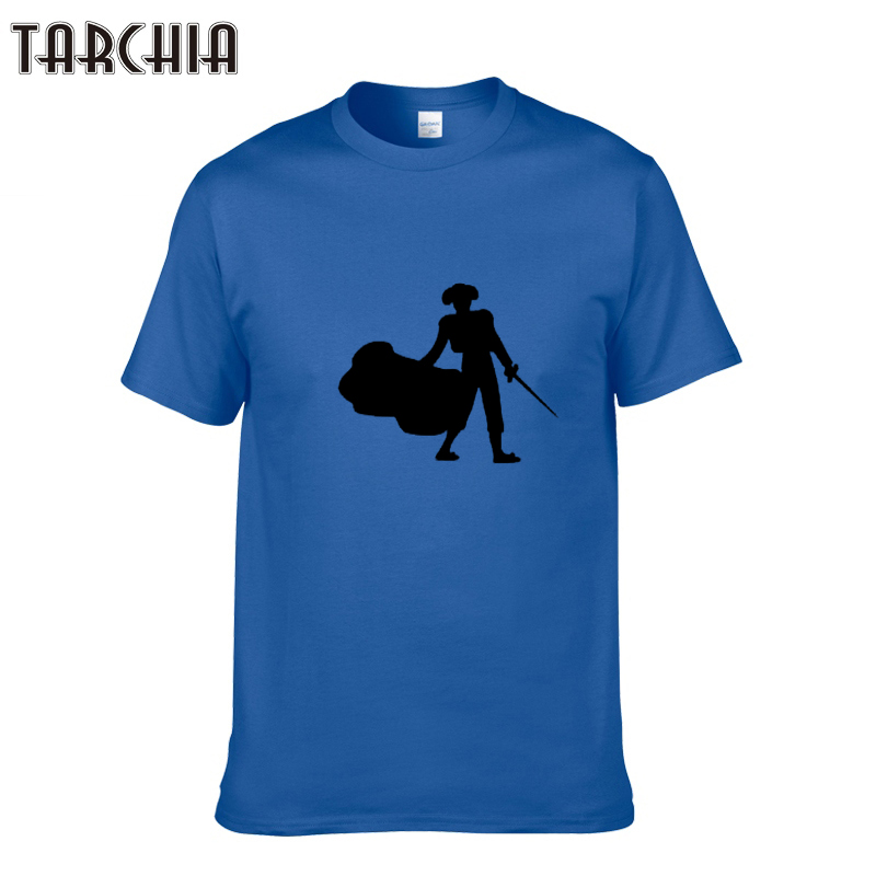TARCHIA Casual Short Sleeve Funny Printed Cotton T Shirt Men 2018 Round Neck Famous Men Tshirt 100% Cotton Crop Tops Homme