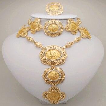 9a47a3427ea6 Venta al por mayor de joyería de vestuario africano de aleación de Zinc de  conjunto de joyería de la boda de Nigeria África joyas conjunto de joyas de  oro ...