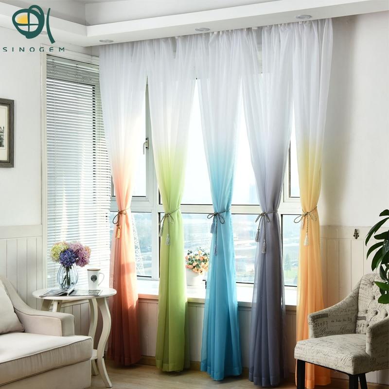 Sinogem tüll függönyök nappali lakástextil gyermekek hálószobai dekorációk ablakfüggöny konyhai kezelések osztó puszta