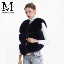 Women Real Fox Fur Vest Female Winter Autumn Genuine Fox