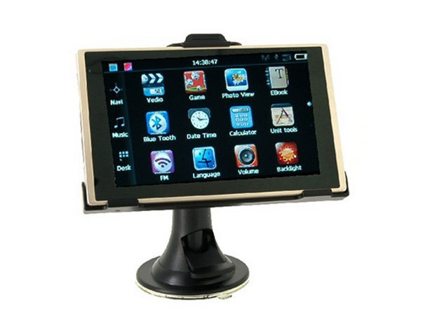 5 polegadas Touch Screen Navegador GPS Do Carro com Leitor de eBook Calendário (Black)