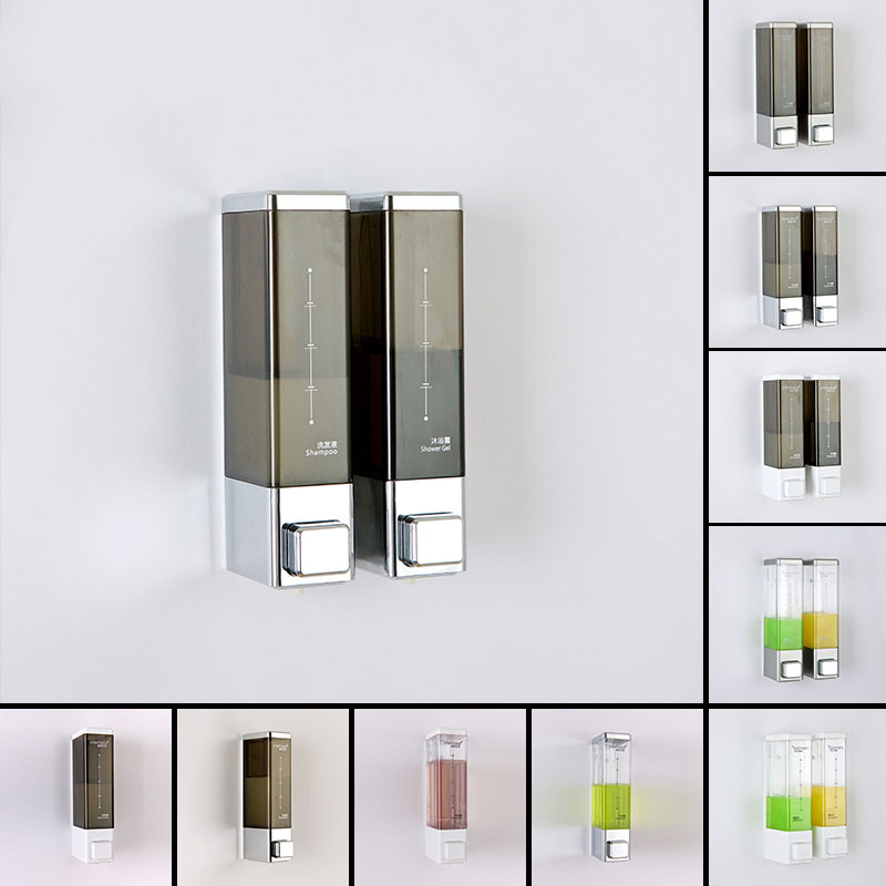 Fapully Wall Mounted Liquid Soap Dispenser Wash Hotel Hand Double Soap Dispenser Bathroom