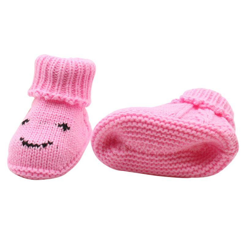 Toddler Shoes Knite Baby Footwear First-Walker Infant Warm 0-6M Smile-Print Lovely