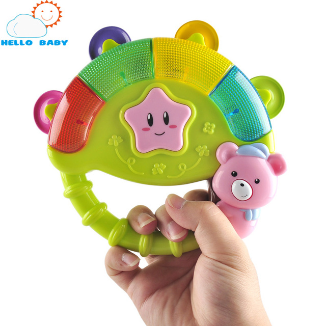 Baby rattle muticolor baby toys shaker flower bed stroller playing hanging hand bell musical instrument glowing receation sleep