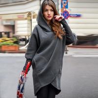 2017 Autumn Winter Women Fashion Loose Hooded Hoodie Casual Tops Pullovers Long Hoodies Sweatshirts Coat