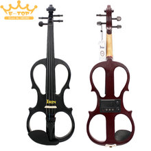 New Stylish IRIN AU-02 4 / 4 Violin for Adult Electroacoustical Fiddle Black & Brown-red Color Optional Maple Material