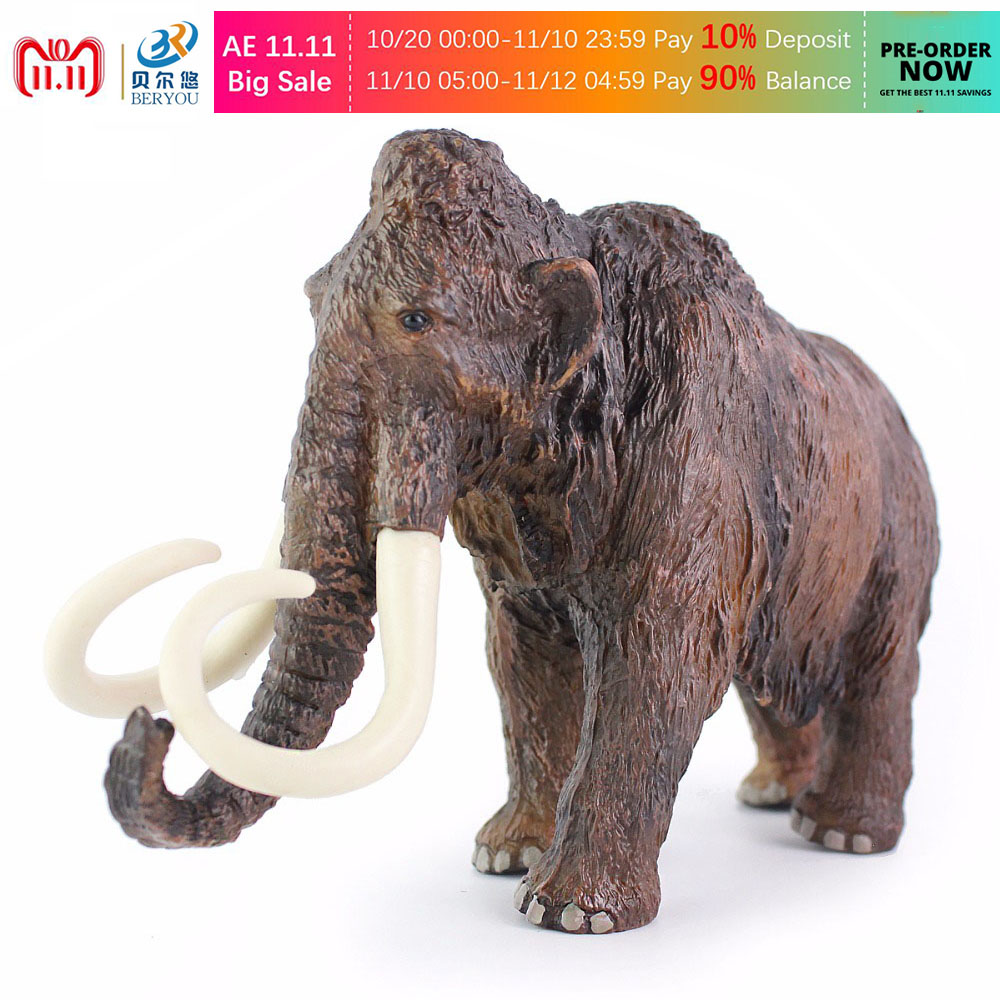 BEIERYOU Big Size Africa Mammoth Figure Elephant Wild Animal Simulation Toys For Boys Children Figurine Toy Xmas Gift 20cm -45 sweet years sy 6130l 24