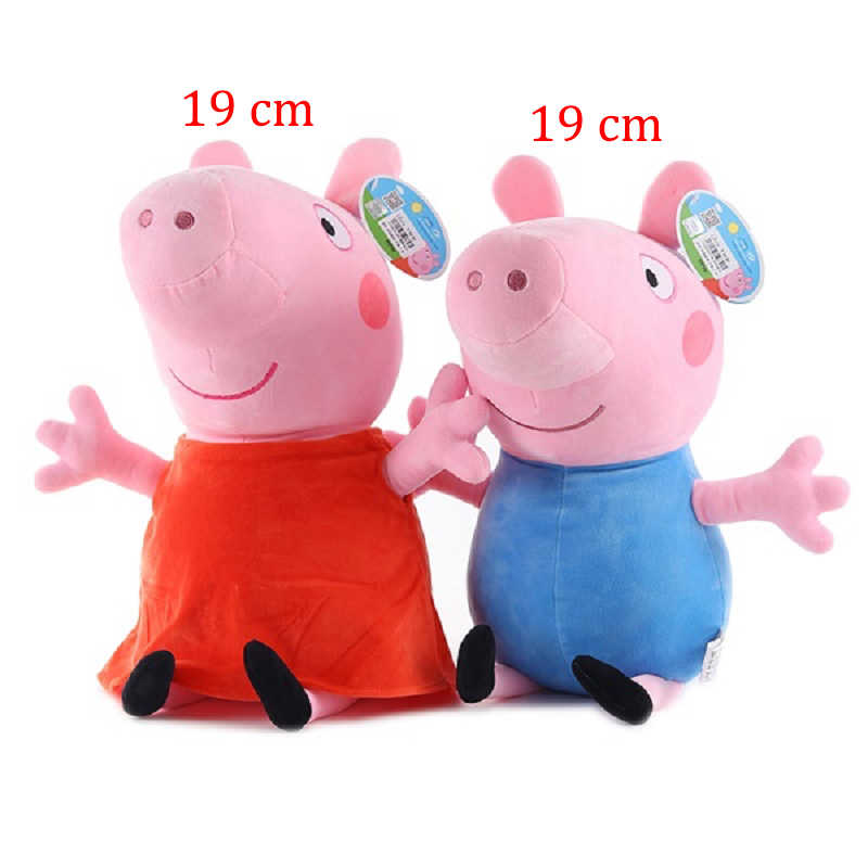 Peppa Pig George Pequeno Pai Mãe e Família do Porco porco Brinquedo de Pelúcia 19 centímetros Cheia Boneca Brinquedo da Criança Do Partido Jóias presente