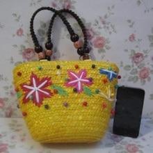 Соломенный ручной вязки, милый морской звезды, Женский кошелек для монет, маленький мешочек, кошелек, сумка bolso mujer bolsa feminina для девочек kindergaten
