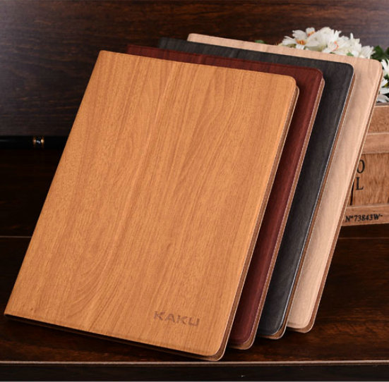 New   Slim Wood Grain Flip Leather Case Stand ultra smart cover case for apple ipad 2 3 4 for ipad air1/2 for ipad pro 9.7 alabasta cover case for apple ipad air1