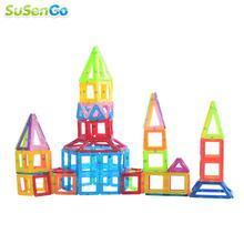 Magnetic Designer Mini Building Blocks 88pcs Construction Toy Kids Educational Toys Plastic Creative Bricks Enlighten