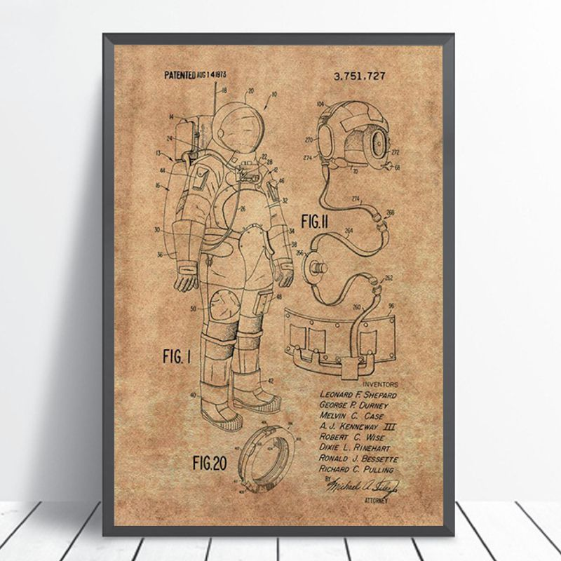 Space Suit Wall Art Print