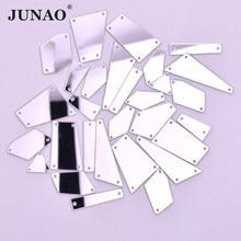 JUNAO-miroirs de Strass transparents pour la couture avec des cristaux transparents, mélange de tailles, avec application à dos plat de Strass acryliques, pour vêtements, travaux d'aiguille, 20 pièces