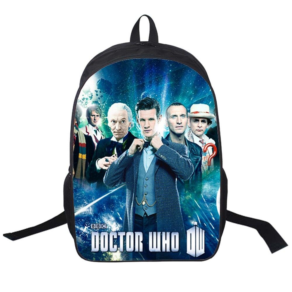 2019 New Women Bags Doctor Who 3D printing Backpack Students School Bag For Teenage Girls Boys Backpacks Rucksack mochila