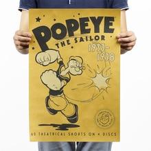 Popeye el marinero papel Kraft Clásico película cartel Revista Arte Café Bar Decoración Retro carteles y impresiones