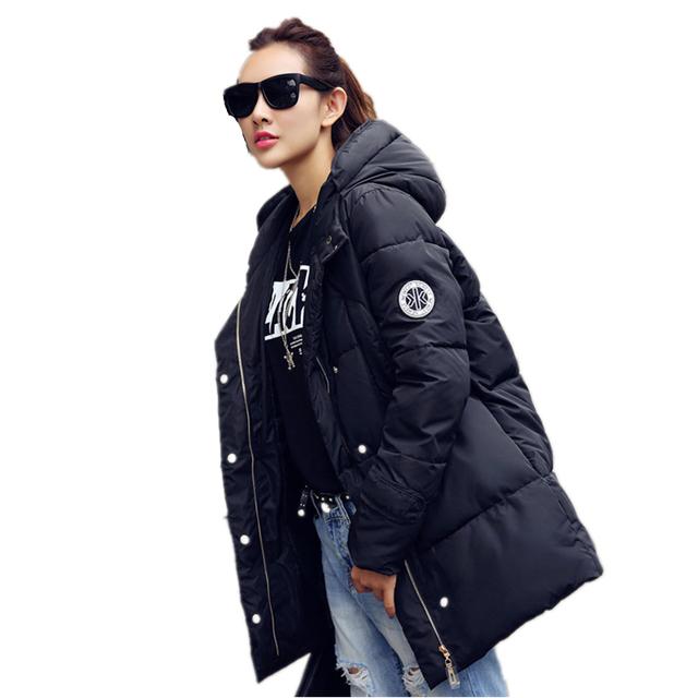 Para mujer chaquetas de invierno y abrigos de las mujeres por la chaqueta de algodón grueso parkas damas abrigo de invierno más el tamaño S-XXL
