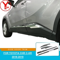 YCSUNZ ABS chrome side door trim body cladding styling mouldings parts car styling accessories For toyota chr c hr 2018 2019