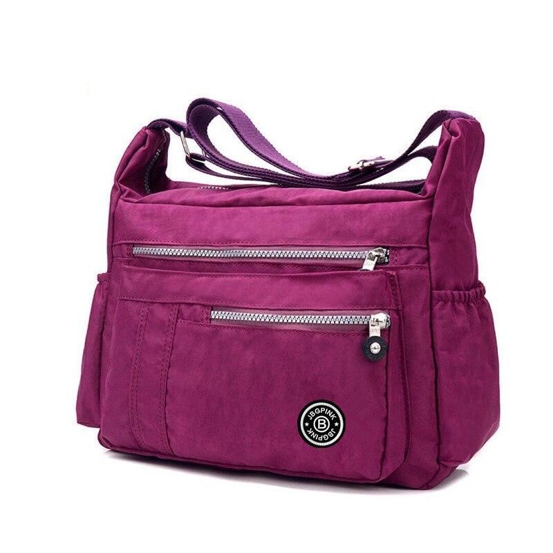 J BG PinK Women Famous Brand Big Nylon Shoulder Beach Bag Casual Tote Female Crossbody Bags sac Femme Bolsa Feminia 2017 New in Shoulder Bags from Luggage Bags