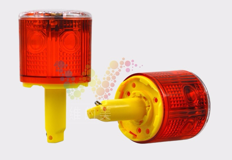 WDM iLED Solar Powered Easy Installment Warning Flashing Beacon Strobe  Light Red