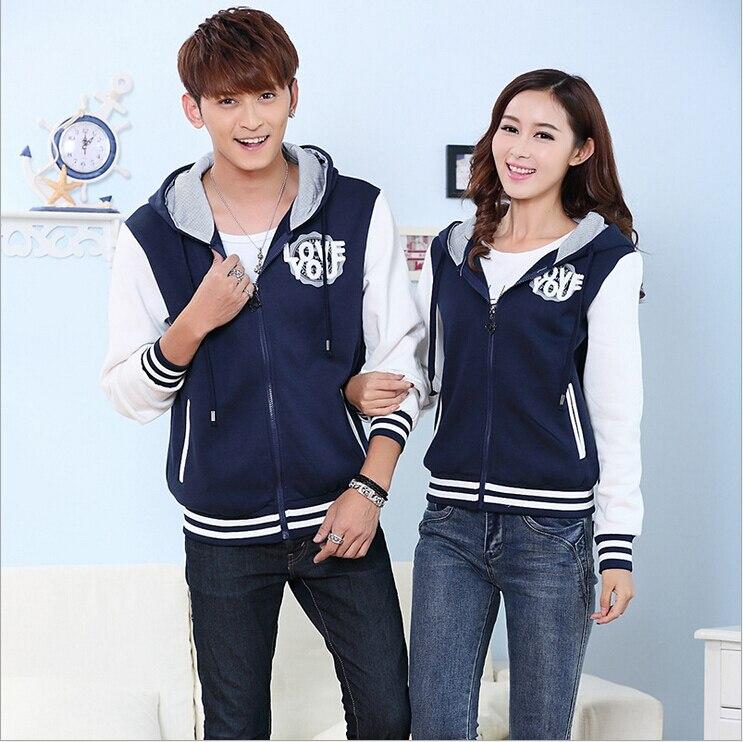 Online Shop Fashion Men Women Letterman Sweatshirt Jacket Sports ...