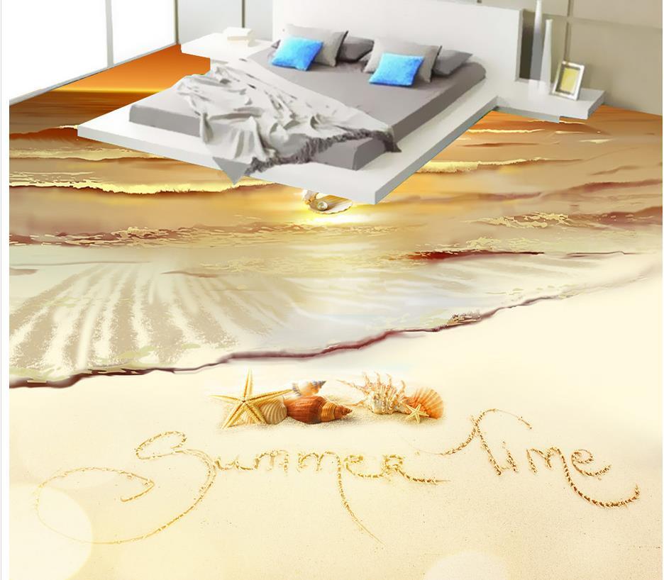 3D wall murals wallpaper floor golden beach 3D wallpaper floor for living room PVC waterproof floor high quality 3d wallpapers for wall custom 3d floor painting wallpaper for walls 3 d for living room pvc vinyl 3d floor murals