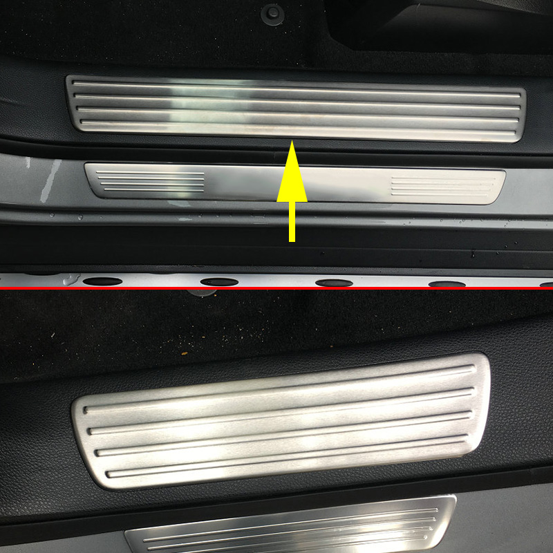 2016 Mercedes Benz Gle Coupe Exterior: Stainless Steel Non Slip Car Door Inside Sill Scuff Plate