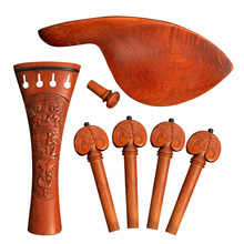 BATESMUSIC 4/4 New 1 set Brand Full Size Jujube wood Violin Parts Set Hill Style 7 Pcs/set