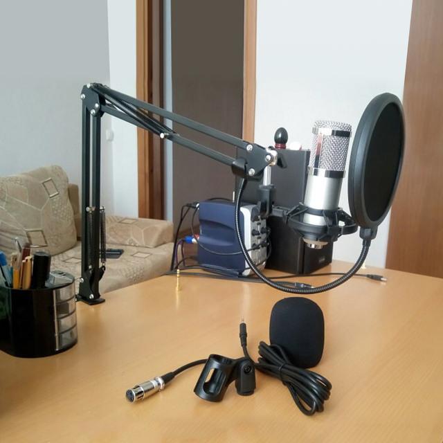 Profesional micrófono de Karaoke de condensador para computadora Audio Vocal registro