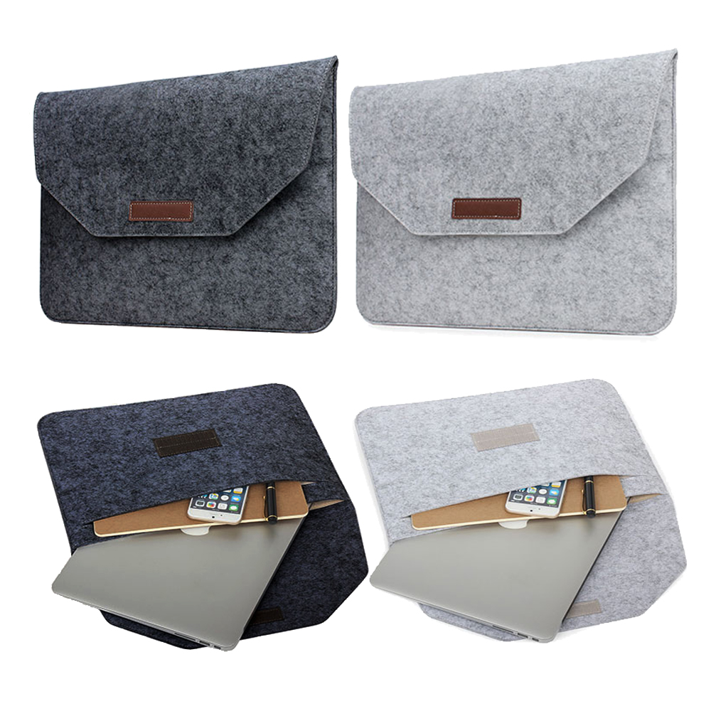 Slim Wool Felt For Macbook Pro Retina 13 15 Sleeve Bag Notebook Flip Laptop Cover For Macbook Air 11 13 Laptop Bag Sleeve Case
