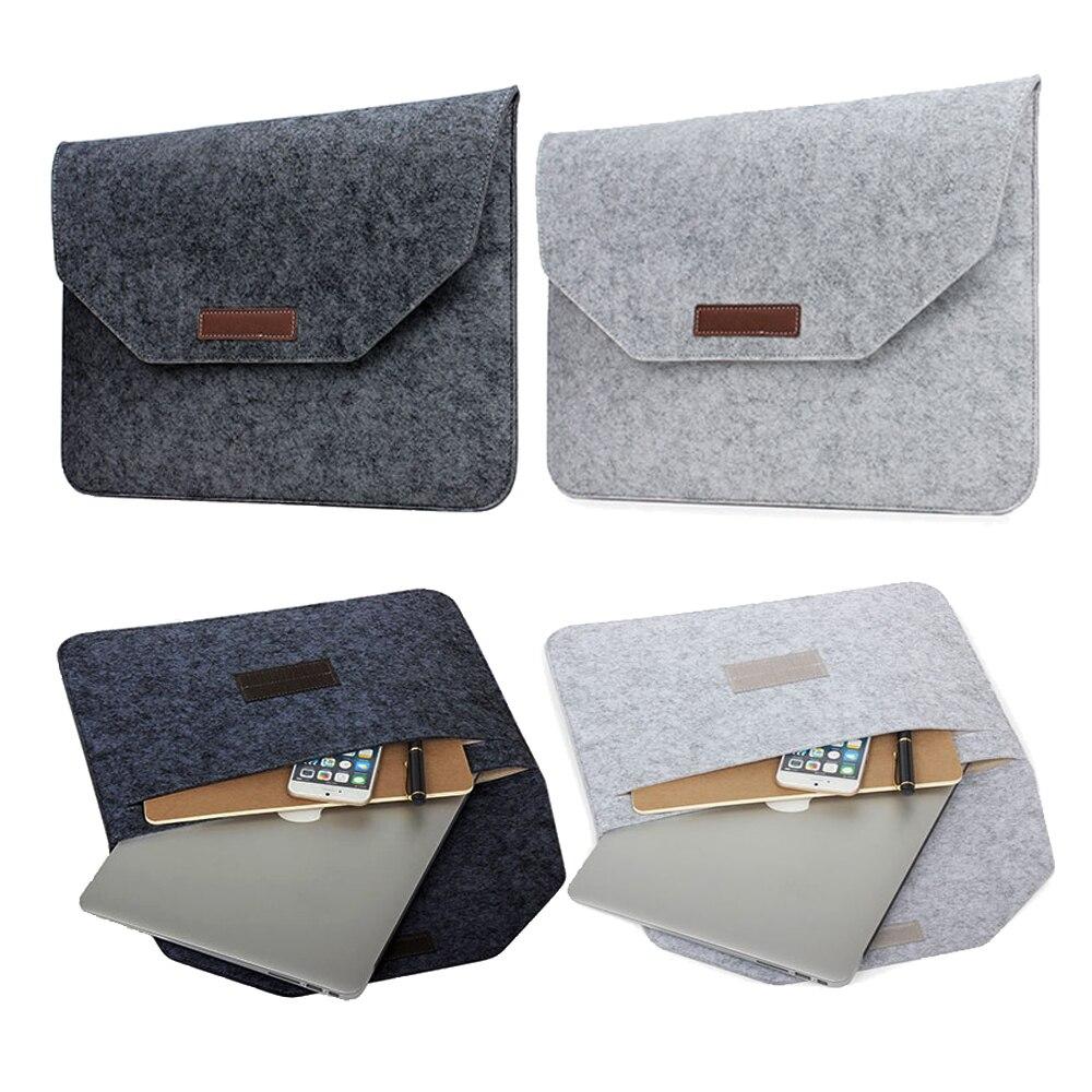 Dünne Wollfilz Für Macbook Pro Retina 13 15 Sleeve Tasche Notebook Flip Laptop Abdeckung Für Macbook Air 11 13 Laptop-tasche Hülle