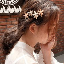 Korean Glitter Faux Crystal Flower Hairpin Ladies Side Bangs Jewelry Decorative Metal Alloy Duckbill Hair Clip Barrette 12 Style faux crystal inlaid hollow out flower barrette