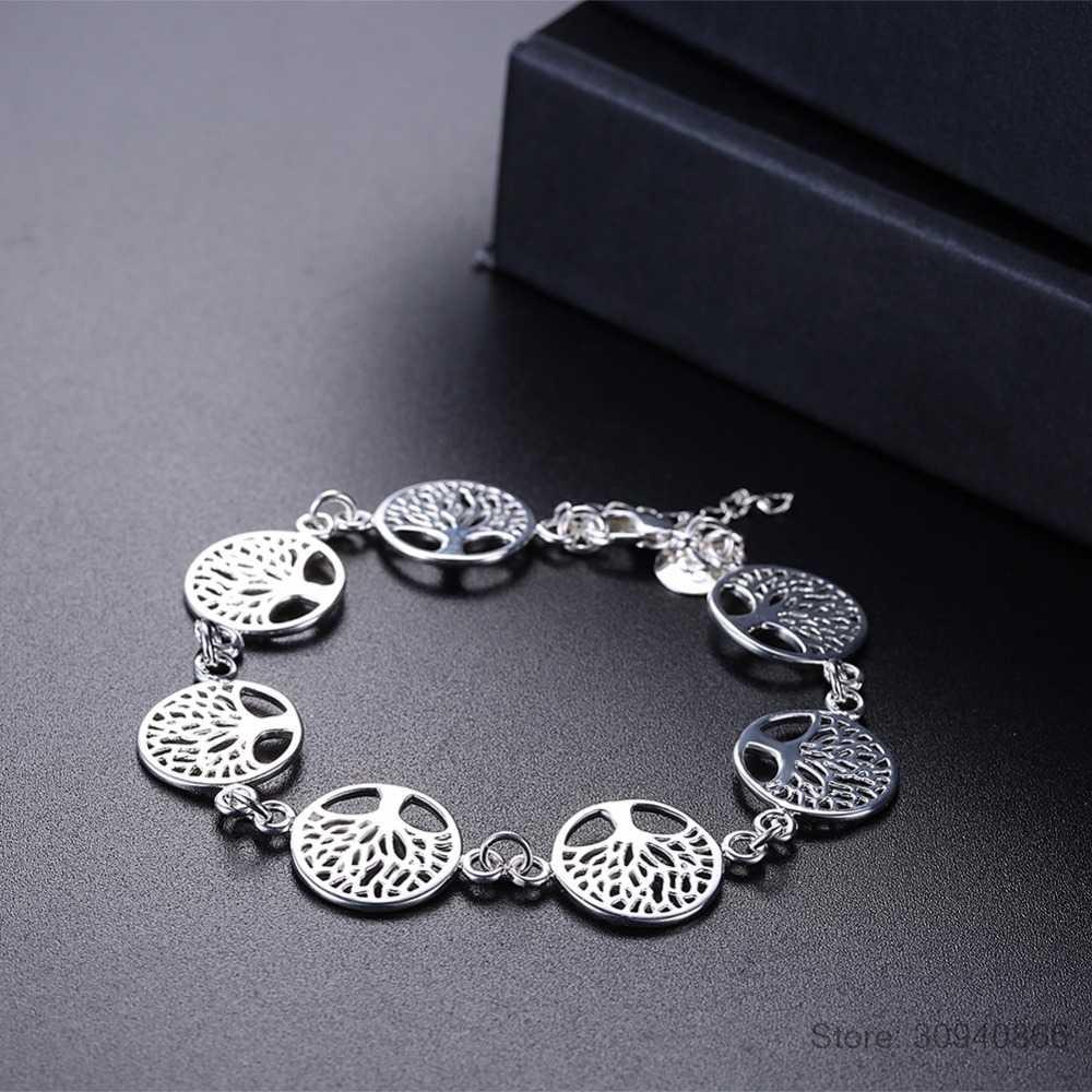 Chất liệu bạc 925 sóc cây trang sức cô dâu Bộ nhẫn Thời Trang vòng tay Bộ 2018 vật tổ quà tặng vợ cô gái cưới Mỹ jewellry