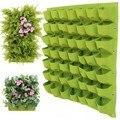 4/9/36/49/72 bolsos parede pendurado sacos de plantio planta verde crescer plantador vertical jardim sala de estar saco jardim suprimentos recipiente