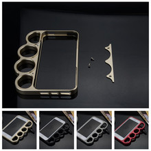 4.7 inch For iphone 6 fashion Outdoor protect frame Brass Knuckles aluminium alloy metal bumper cover full metal