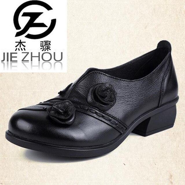 Chaussures Bleu Rétro Avec Talon Carré Rétro Pour Les Femmes zeFxUU