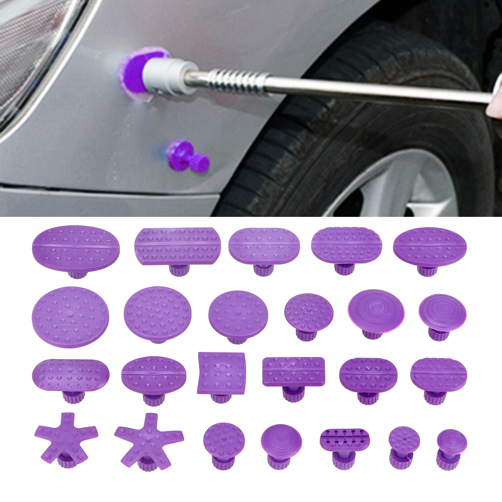 LEEPEE 24 Pieces/bag Car Dent Repair Tool  Car Dent Puller Suction Cups Suction Sucker Gasket Paintless Dent Removal Tool