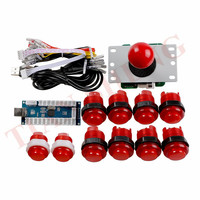 DIY Arcade Joystick Kits 1 player Sanwa joystick+arcade LED button +USB game encoder for PC PS3 XBOX360 Android MAME Game Roker
