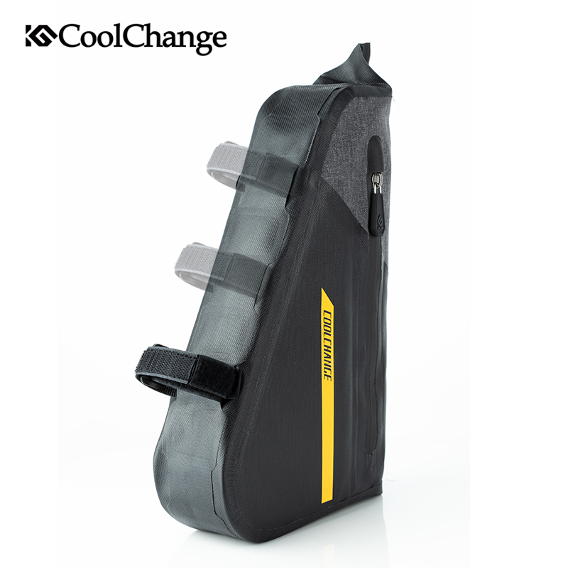 CoolChange Bicycle Bag Triangle Waterproof Large Capacity MTB Bike Bag Outdoor Sports Top Tube Cycling Pannier Bike Accessories in Bicycle Bags Panniers from Sports Entertainment