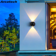 6W LED Wall Lamp IP65 Waterproof Indoor & Outdoor Aluminum Wall Light Mounted Cube LED Garden Porch Light NR-149 led wall light outdoor waterproof ip65 porch garden wall lamp adjustable wall sconces white black cube led wall mounted lamps