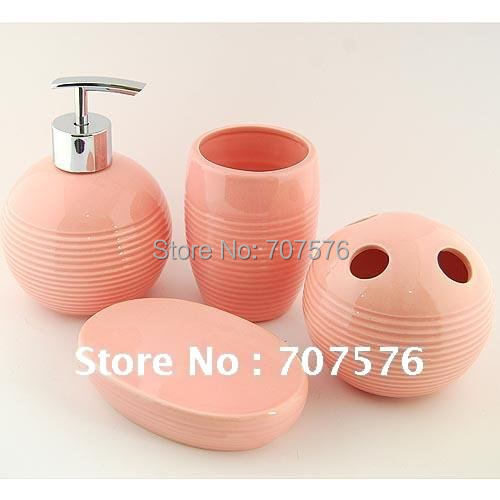Free Shipping New Bathroom products In One SET(4pcs/set) luxury bathroom VANITY set TBS121-4 High Quality Ceramic 4 Colours