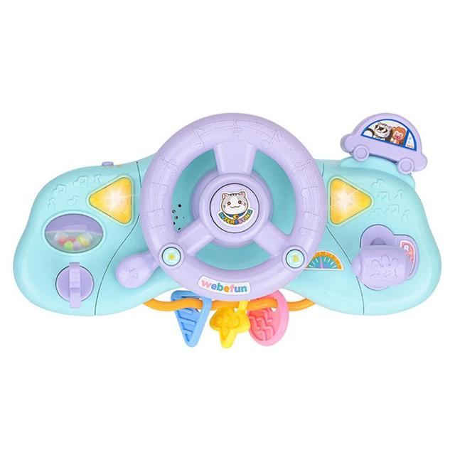 Multifunctional Electric Simulation Lighting Music Steering Wheel Children Outdoor Toy Car Steering Wheel Early Education Toys