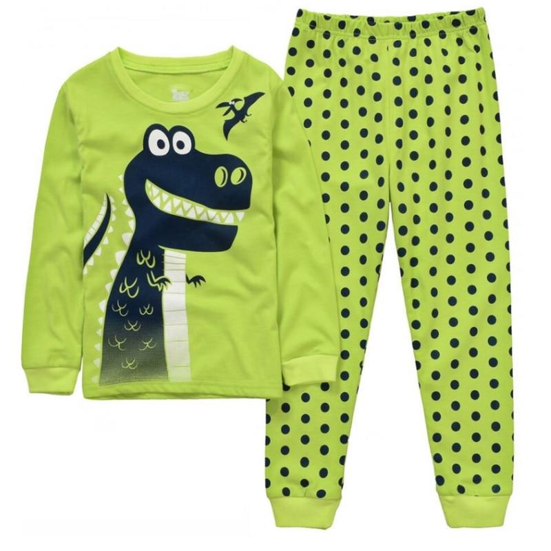 Robot Children Pajamas Suit Boys Pijama Sleepwear Baby Boy Clothing Bottom T-Shirts Kids Pyjamas Home Sport Suit Clothes 3