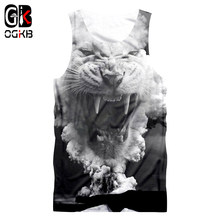 OGKB Unisex Tank Top Summer Cool Print Cloud Tiger 3D Singlets Vest For Women/men Hiphop Punk Gothic Shirts Sleeveless Tees 5XL(China)
