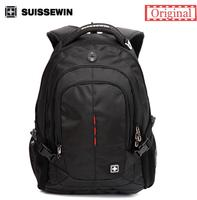 Suissewin Swiss Brand Male Business 16inch Laptop Backpacks Backpack Men Travel Backpack School Students Bags Women