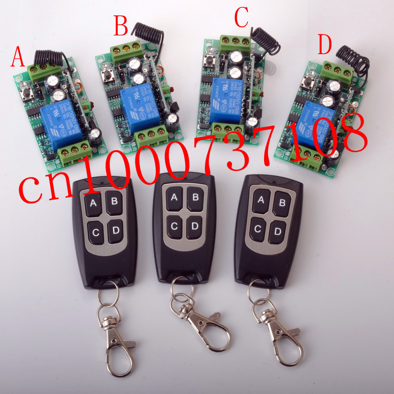 whose sale prices DC12V10A Learning Code Wireless Remote Control Switch System 4 Receiver and 3 Transmitter for entrance guard  free shipping 12v 1ch learning code wireless remote control switch system 1 receiver and 1 transmitter for entrance guard door